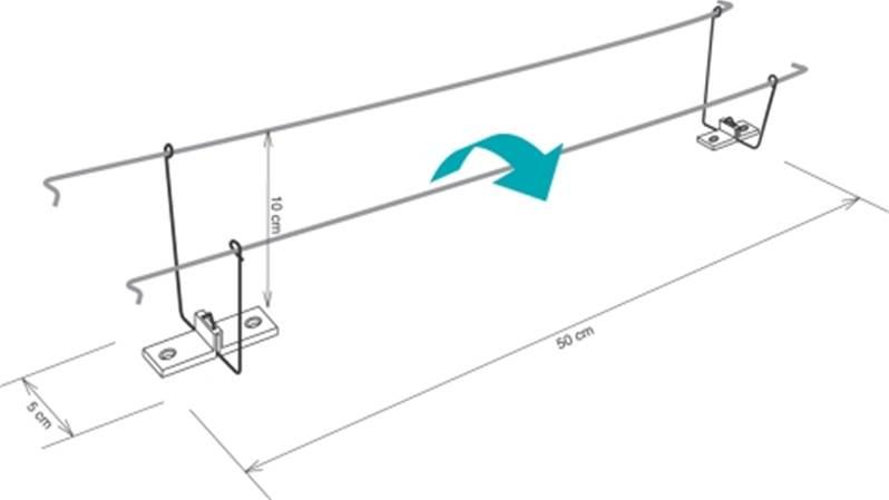 syst me anti pigeon par cable double. Black Bedroom Furniture Sets. Home Design Ideas